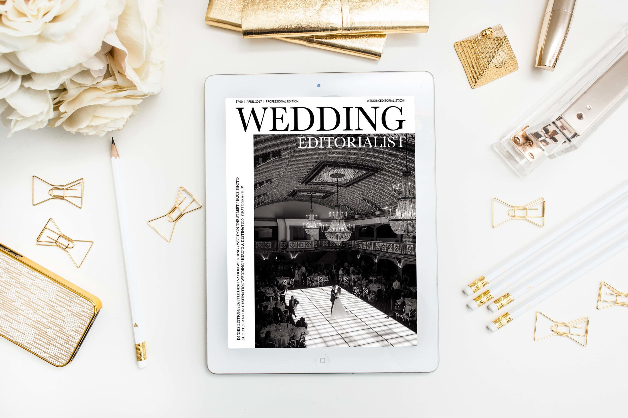 PROFESSIONAL PIECE:  Rebecca Marie applies a fine art approach to her destination wedding photography business. This issue of The Wedding Editorialist beautifully showcases some of her favorite couples while also providing professional insight and advice to newly engaged and married couples.  CLICK HERE TO READ.