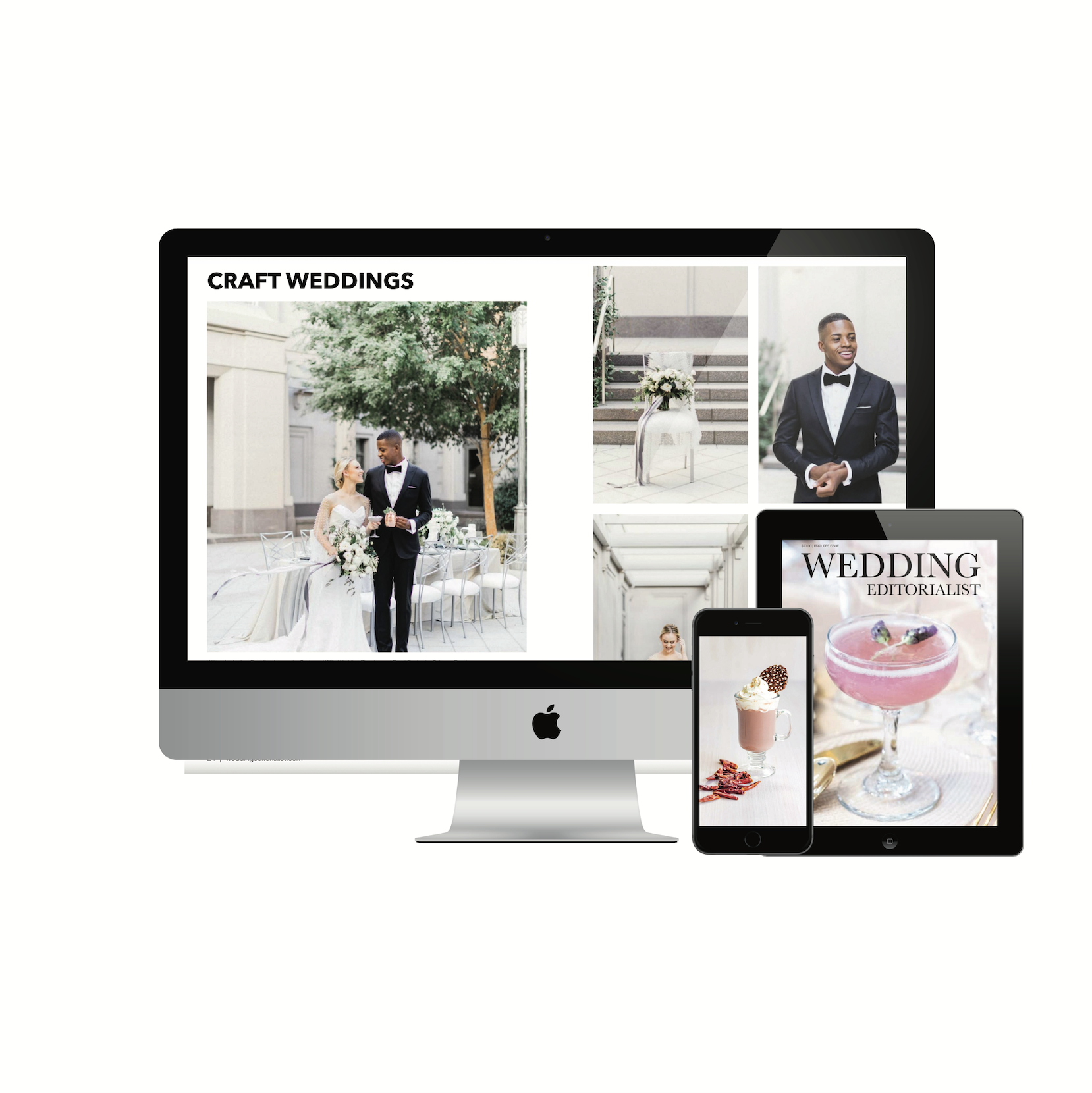 Custom wedding magazines you can read on your desktop, laptop, mobile phone and tablet. www.weddingeditorialist.com