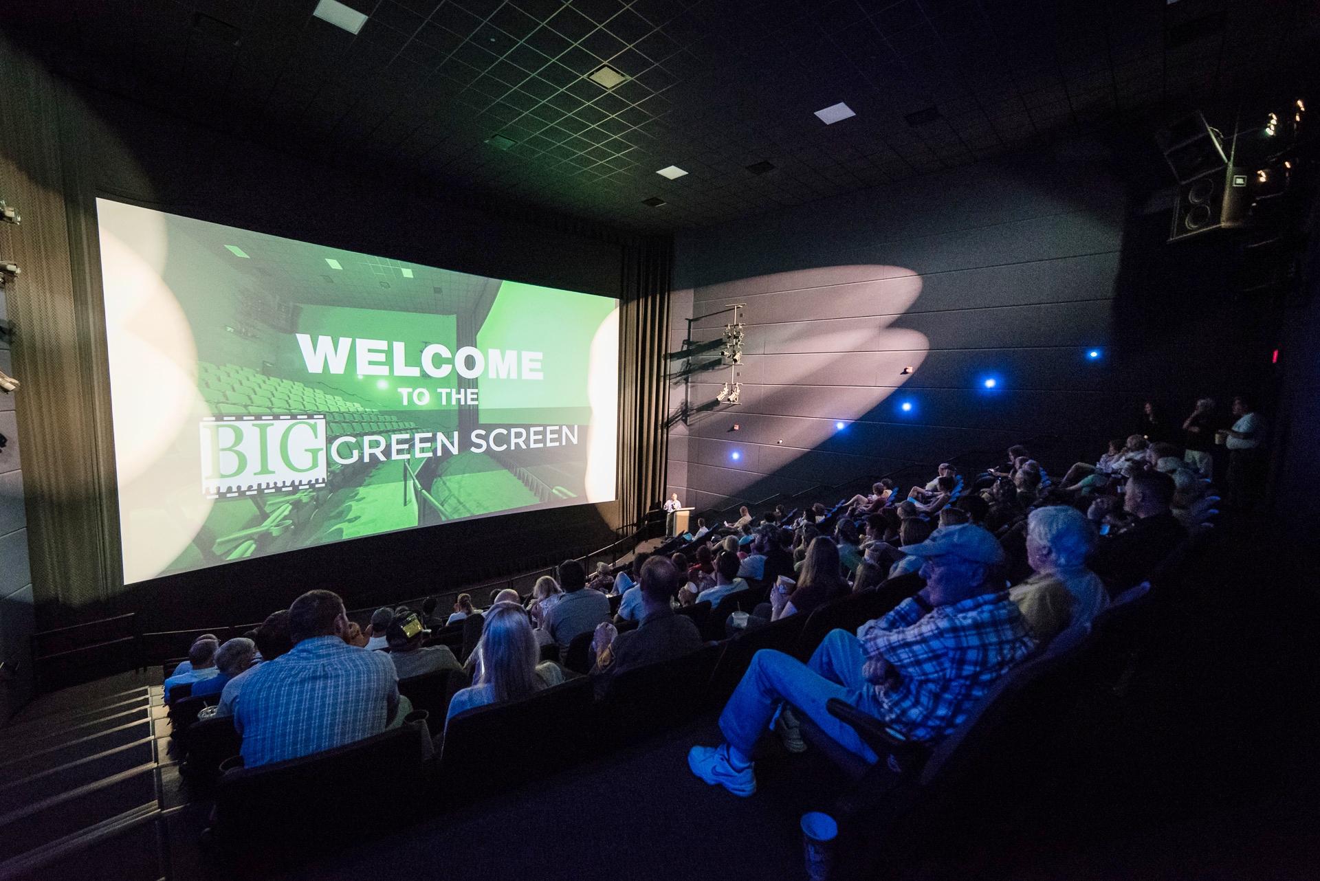 The  BIG Green Screen  at the Tom Ridge Environmental Center.  Visit  www.biggreenscreen.com !