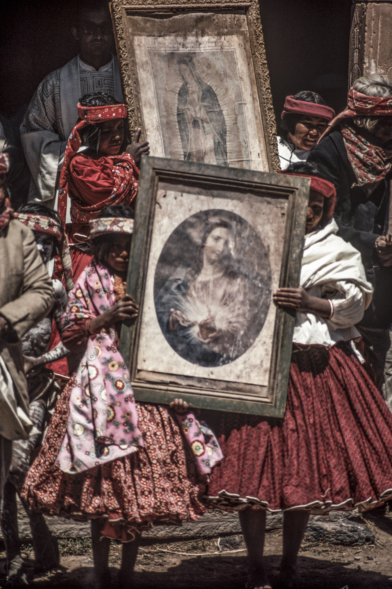 Holy week, procession with religious images