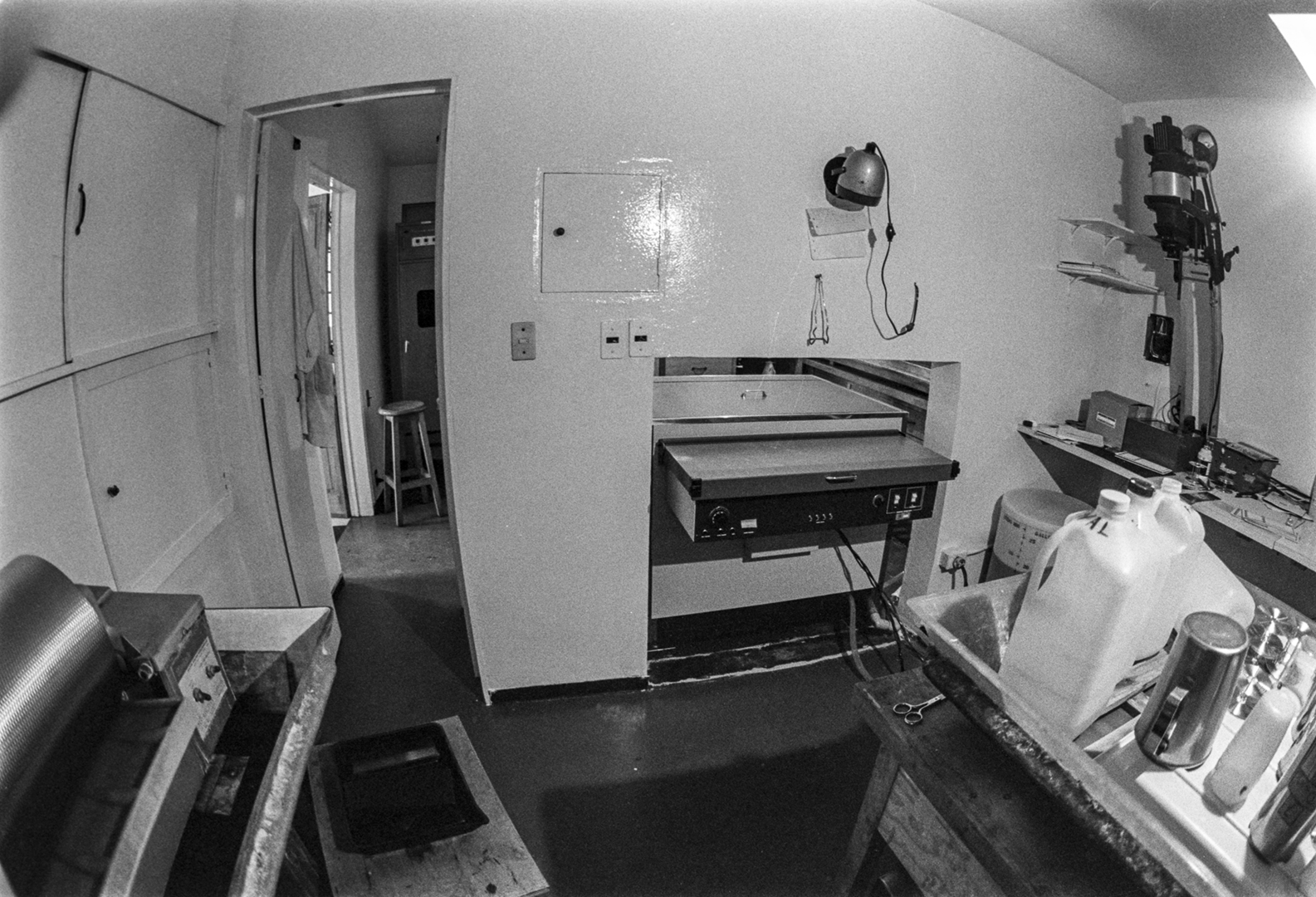 The enlarger room.