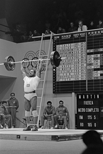Louis Martin, British weightlifter in the Olympic Games.