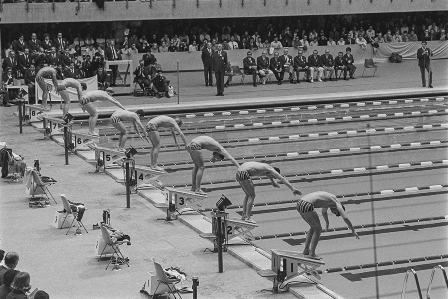 Swiming competition at the Olympics