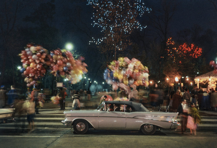 Cadillac & Christmas lighting