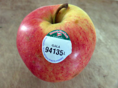 A 5-digit number starting with 9 for fresh fruit and vegetables.