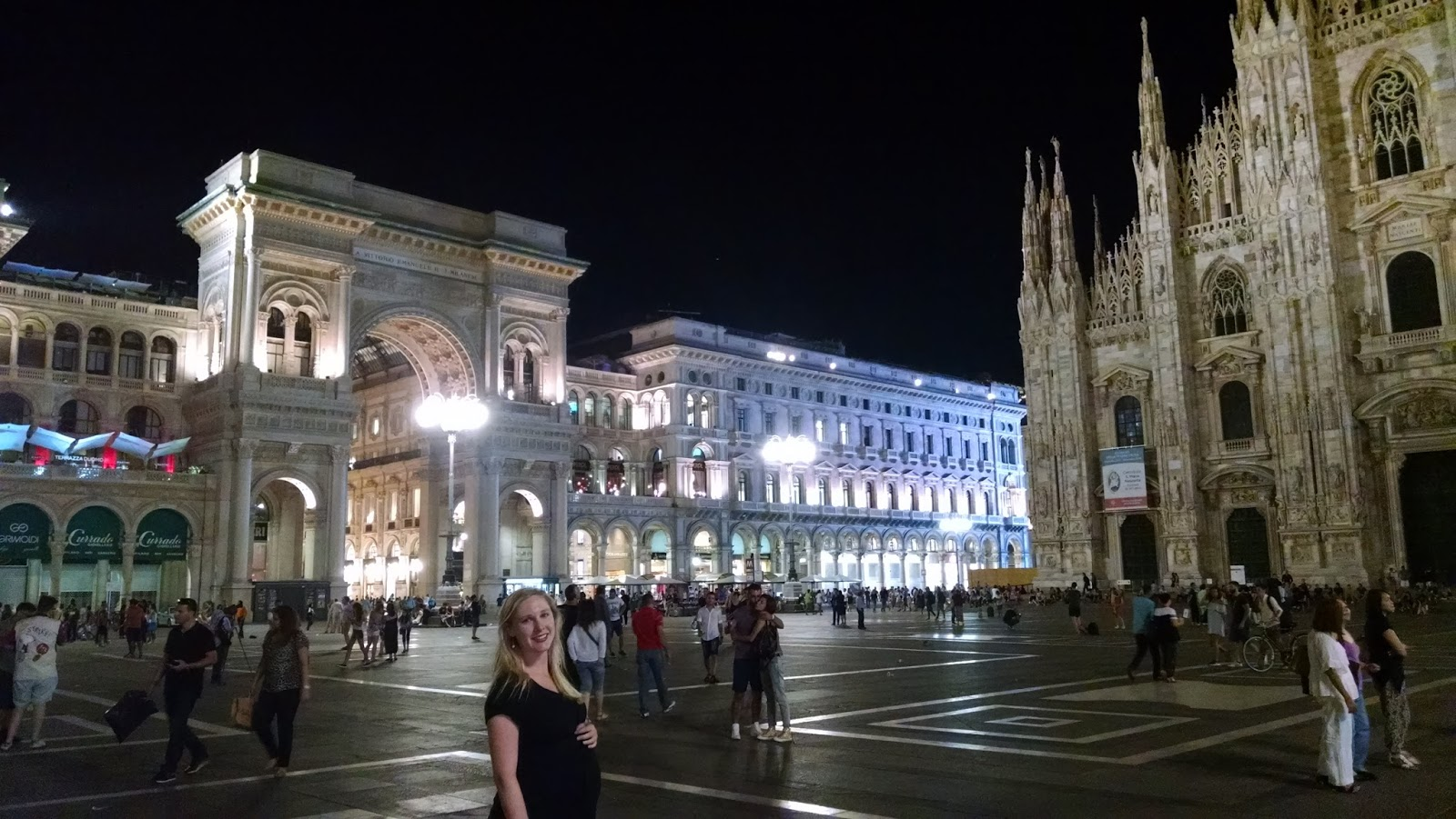 In Milan at 8 months pregnant. Baby's made of gelato, so we gave him an Italian name.