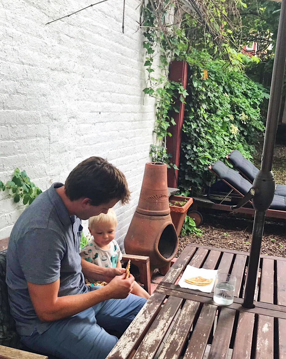 pretending to be a trendy brooklyn family for a week. can you tell we favor swaps with backyards?