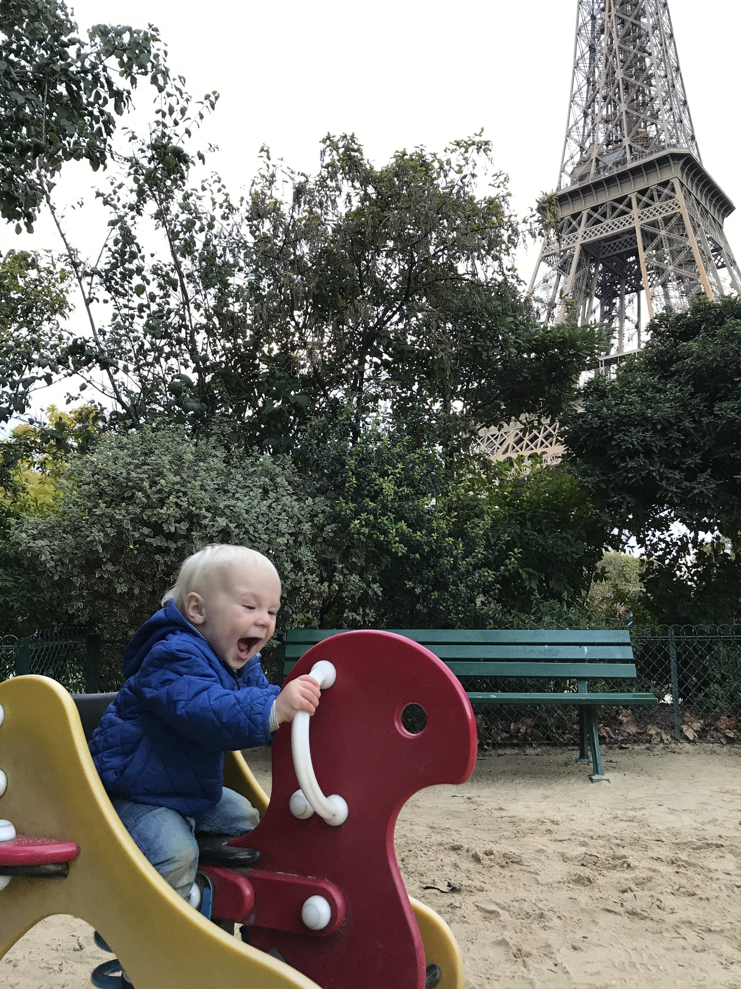 Trip to paris: $389 on air france. Finding a park at the base of the eiffel tower? priceless.