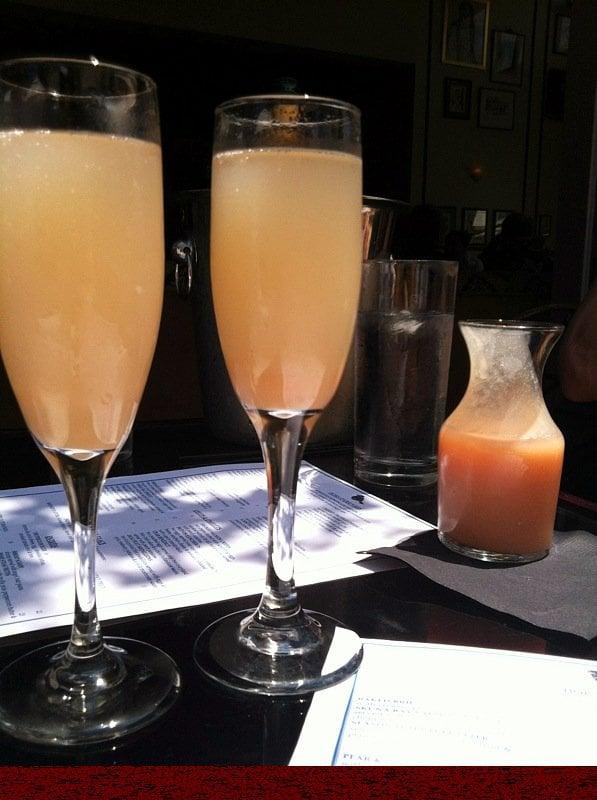 Pol Clemente Champagne w Peach puree -