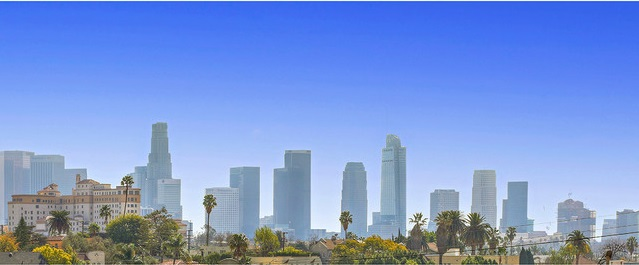 Breath-taking view of Downtown Los Angeles from the deck.