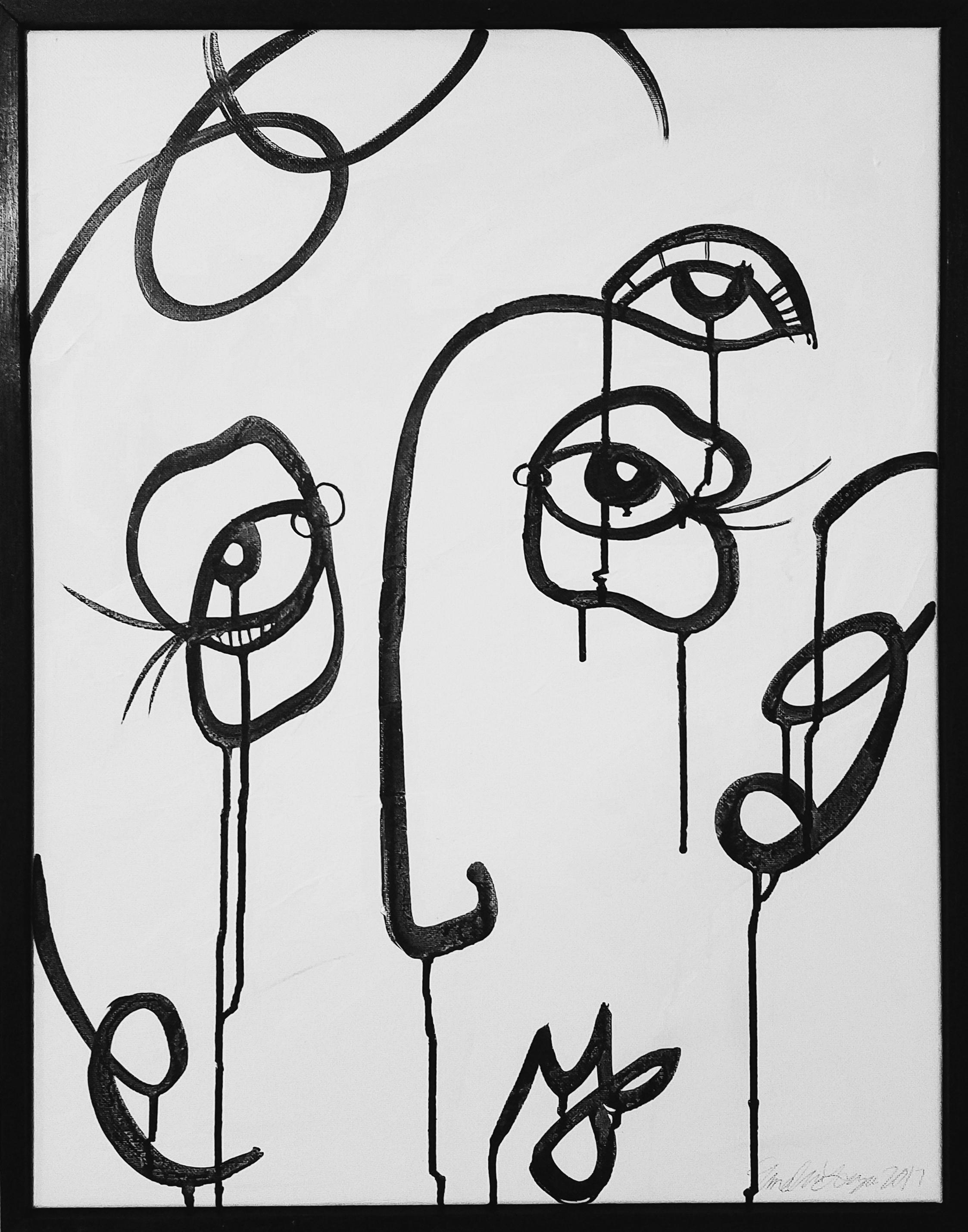 "Untitled 18x24"" Acrylic paint on canvas, 2017"
