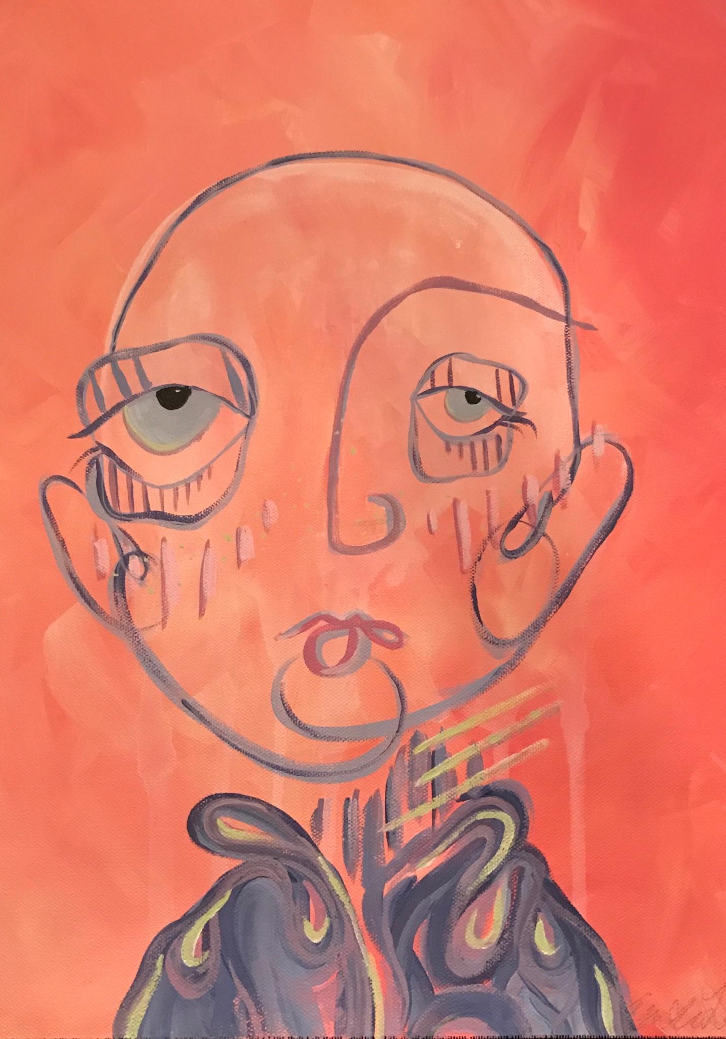 """Eilis 12x16"""" Acrylic paint on canvas 2017"""