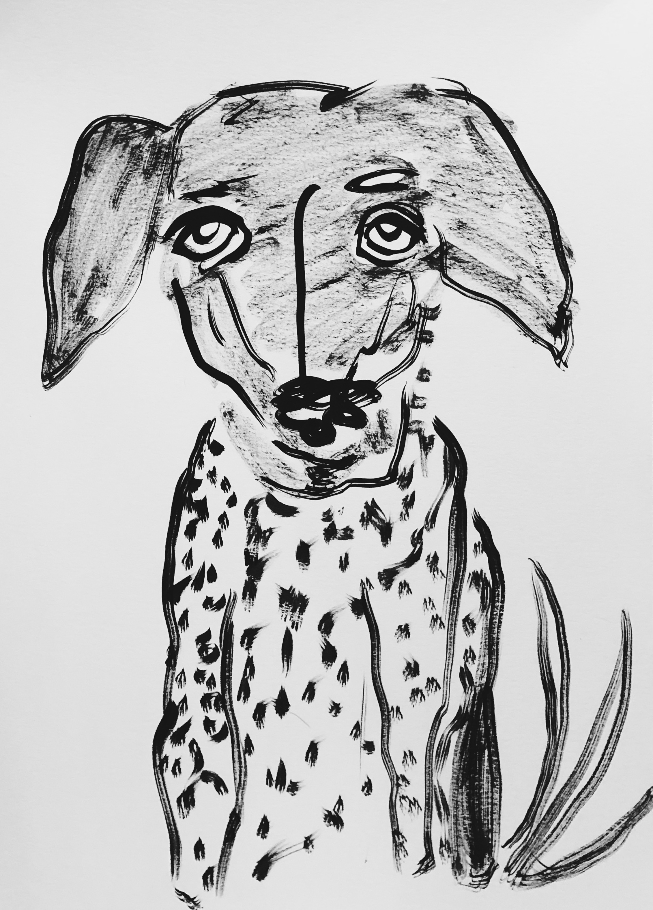 """Remy 12x16"""" Ink on paper 2018"""