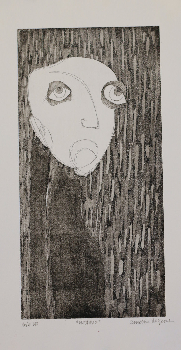 """Untitled 9x14"""" Etching 2016"""