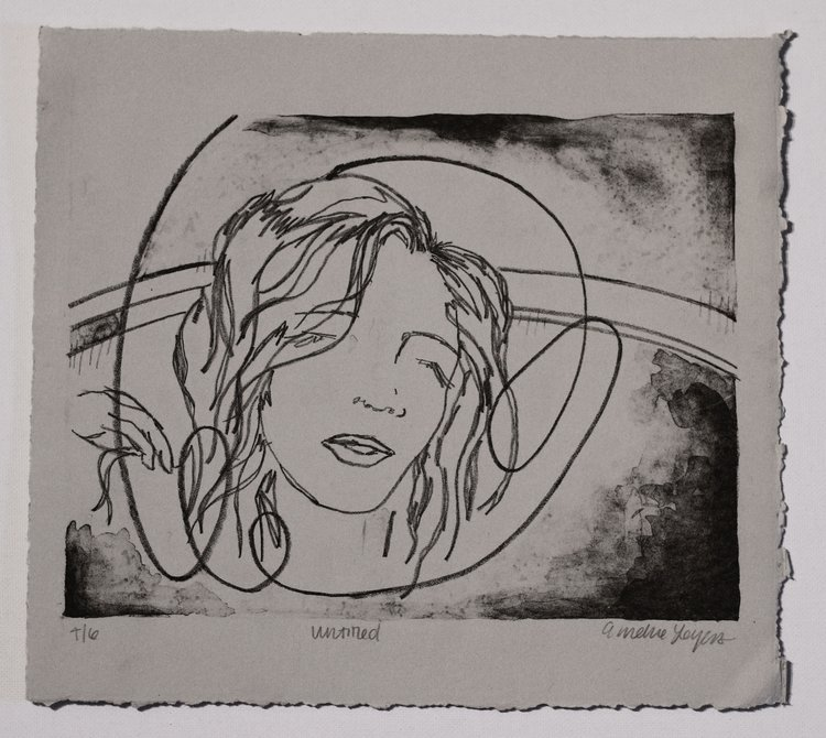 """Untitled 8x10"""" Lithograph print 2016"""