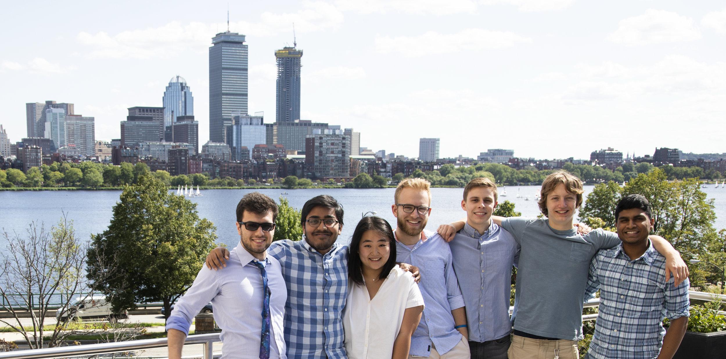 From Left to Right: Kliment Serafimov (MIT2020), Sathvik Birudavolu (UMass Amherst2021), me!, Sean Kelley (UMass Amherst2020), Cowboy Lynk (MIT2020), Alex Fischer (UMass Amherst2020), Saarthi Jethi (BU2020)