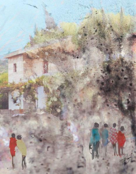 "Kathi Ganong - ""Village Stroll"""
