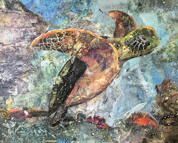 Runner Up: Textural Turtle- Cindy Burkett