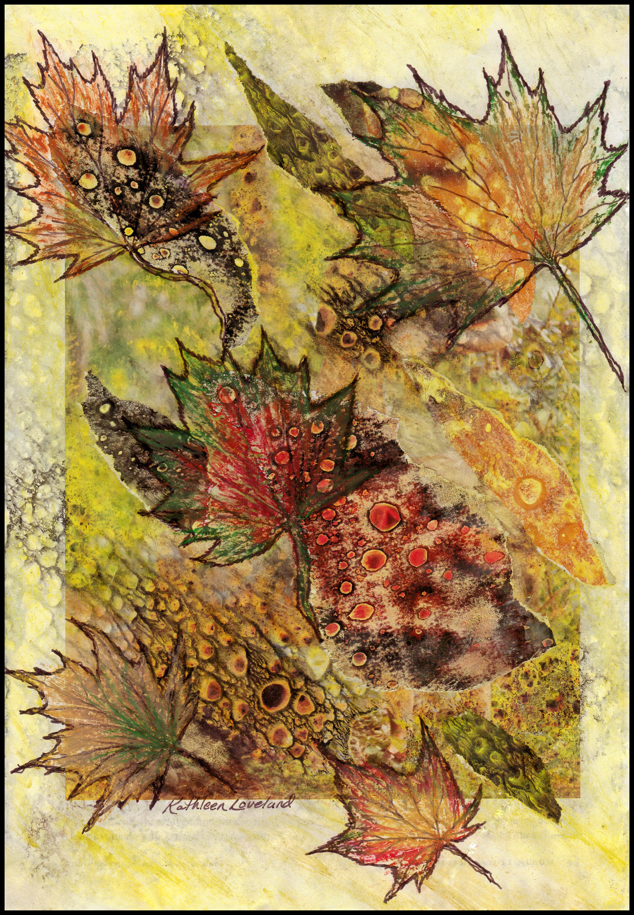 Autumn Leaves Dancing In The Breeze