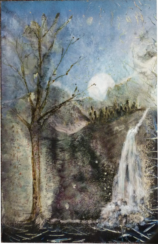 Full Moon Waterfall