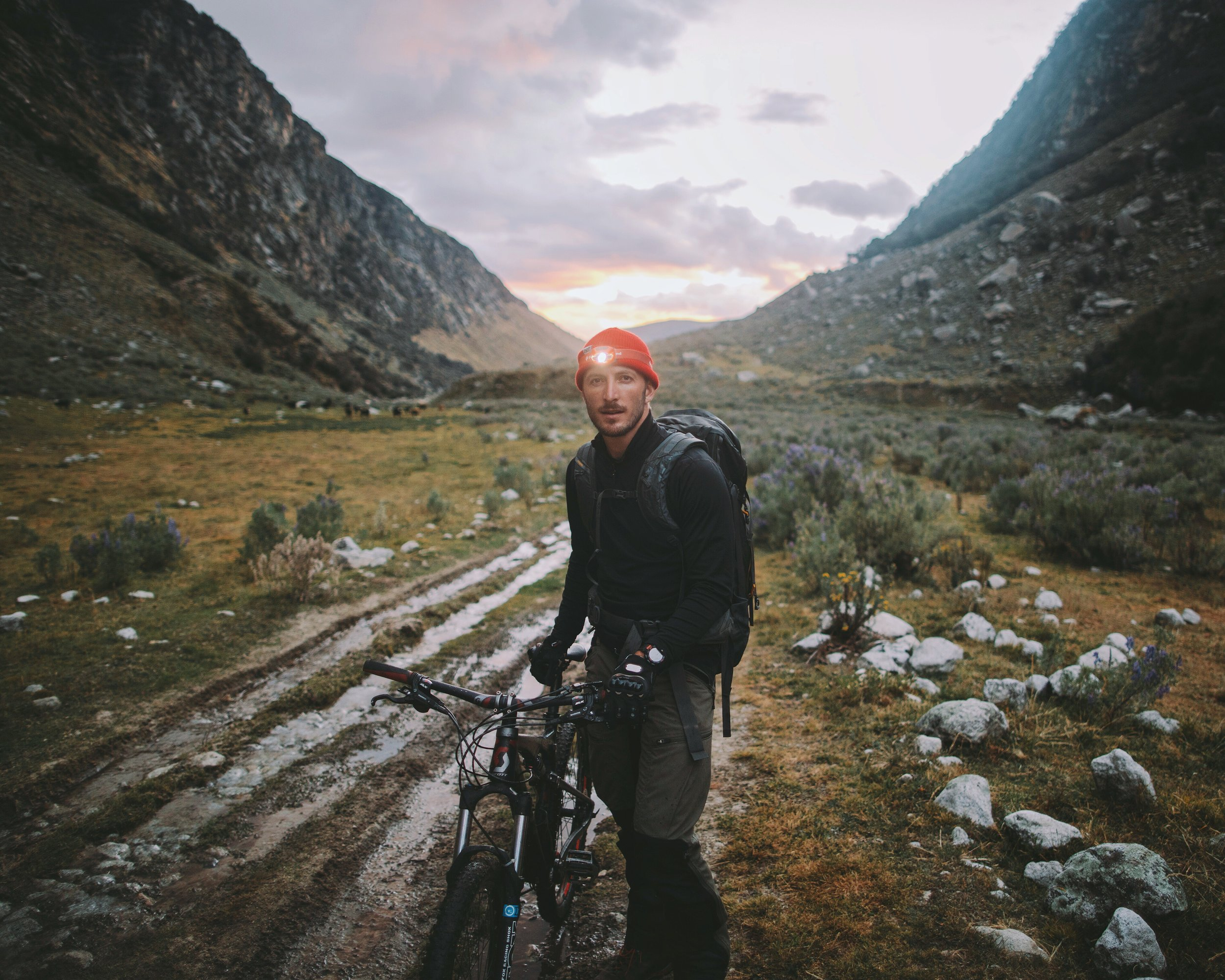 Isaac Johnston in the Peruvian Andes. Photo by Alex Strohl