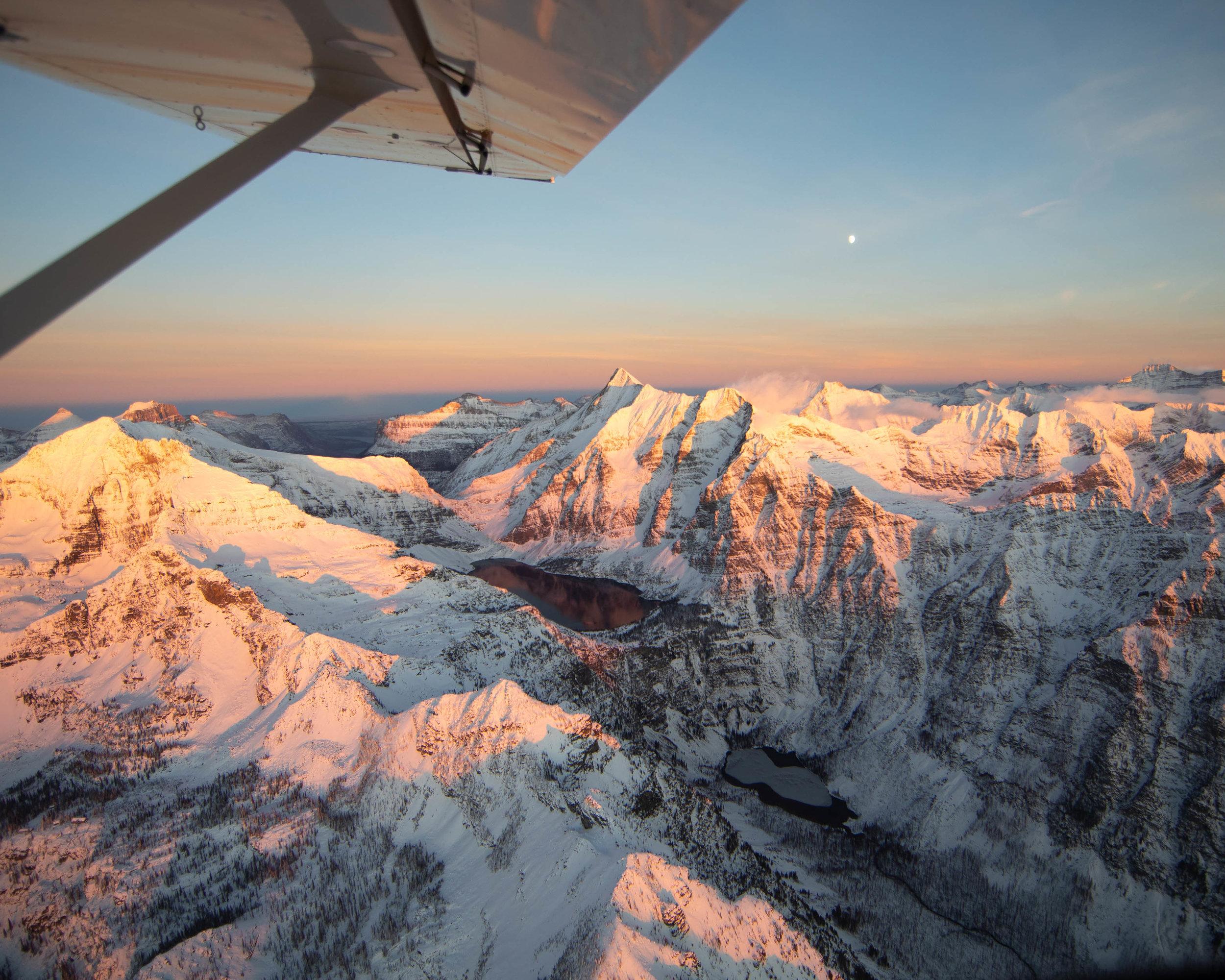 Glacier National Park flight