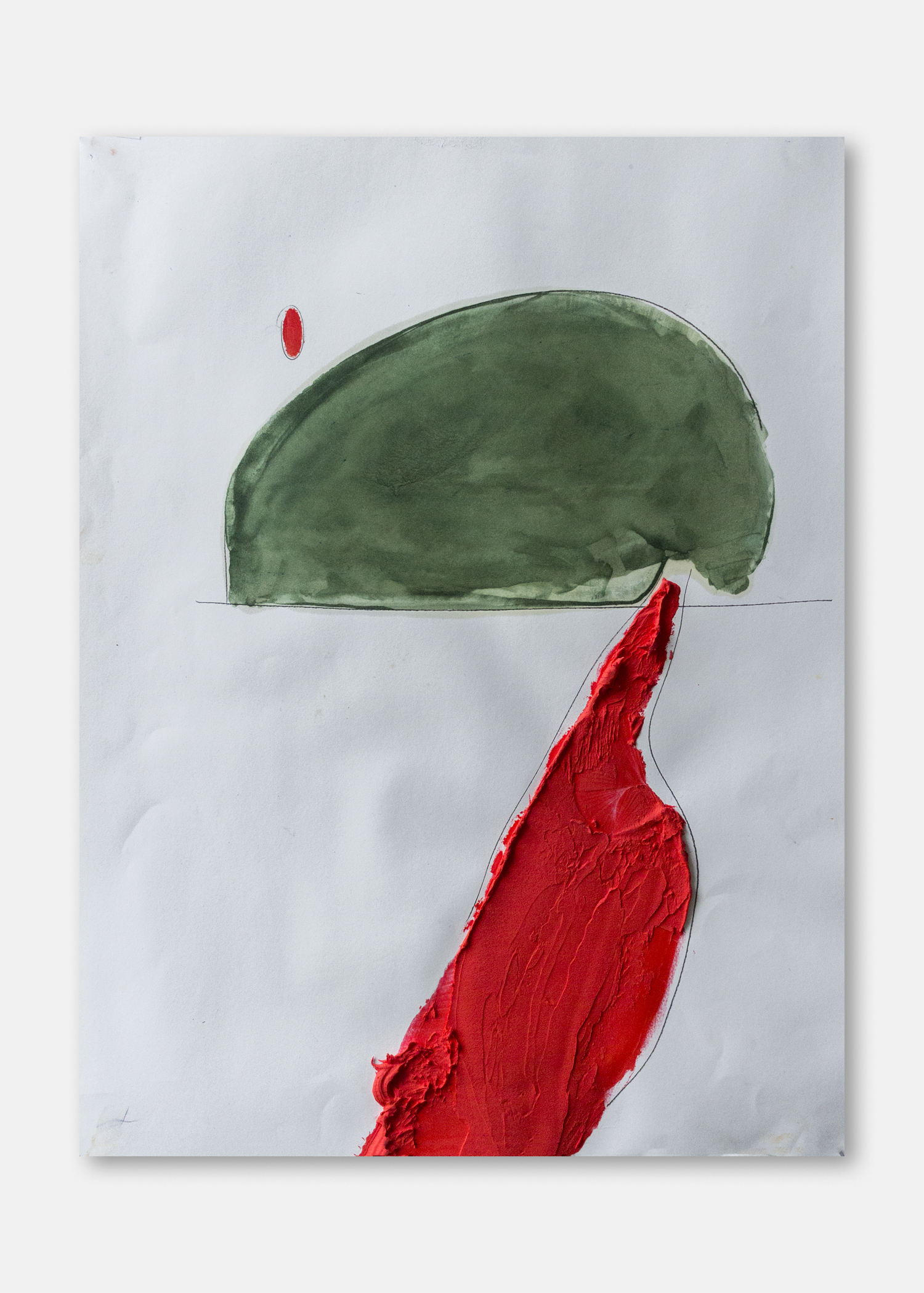 Untitled  Pigment and acrylic on paper  45.5 x 61 cm  24 x 18 in