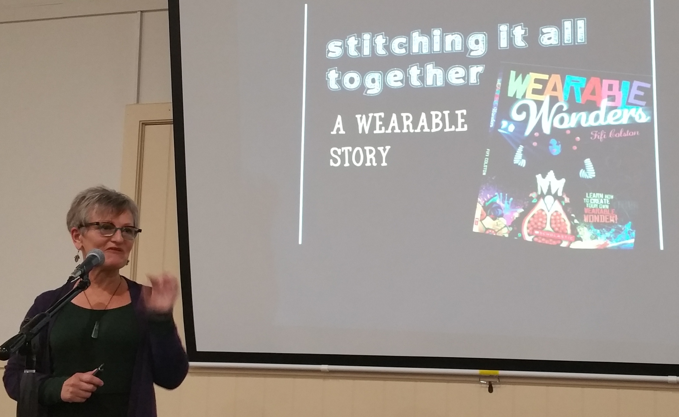 Fifi Colston talking to Wellington Quilters Guild Nov 2018