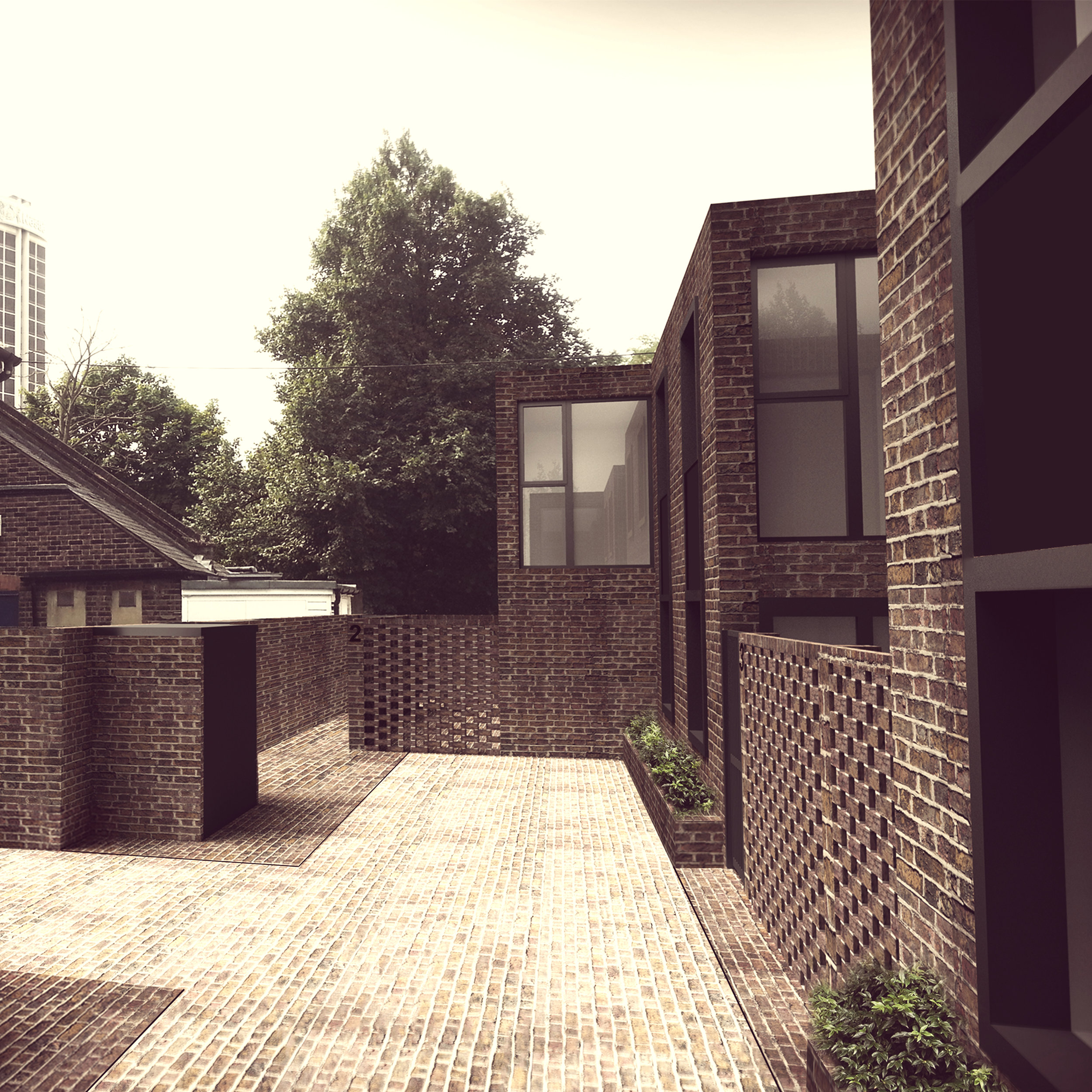 4-new build mews houses, East Croydon CR0