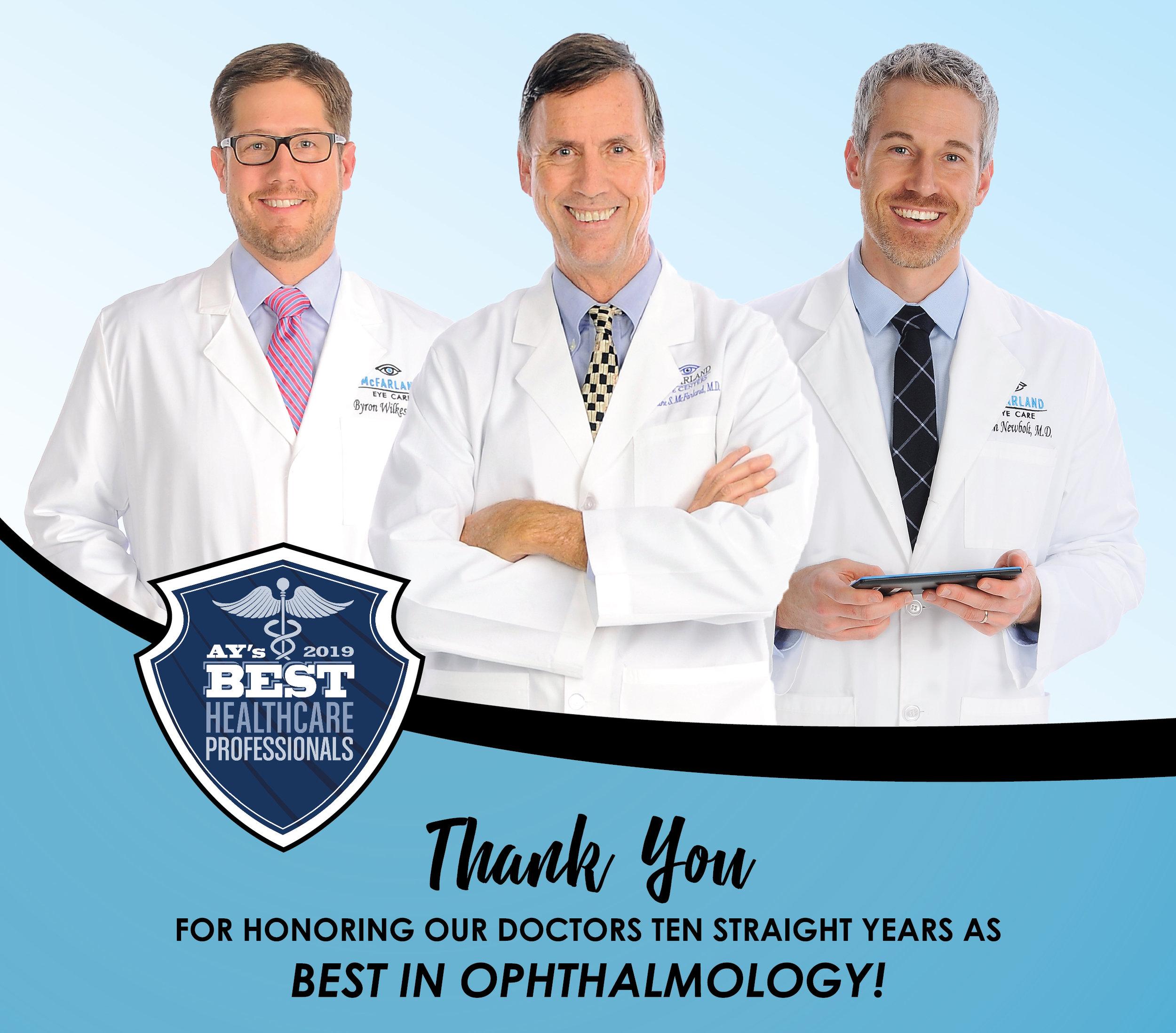 Mike McFarland, MD Evan Newbolt, MD Byron Wilkes, MD McFarland Eye Care