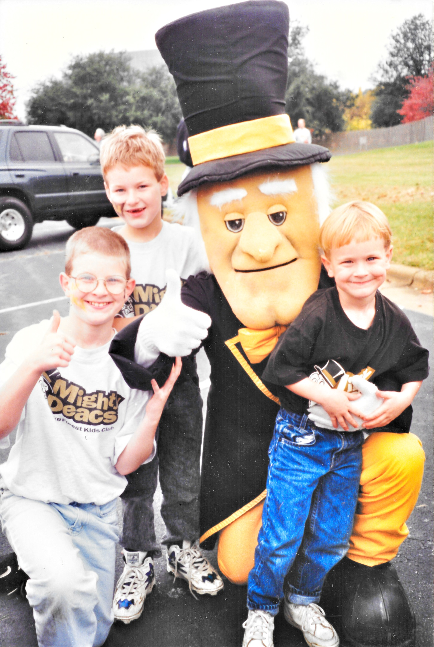 My brothers and me with the Wake Forest Demon Deacon