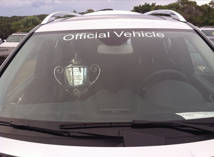 Wanamaker in an Official Vehicle