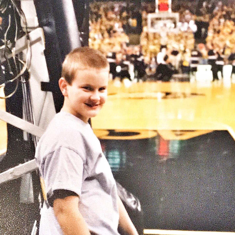 Me as a ball kid