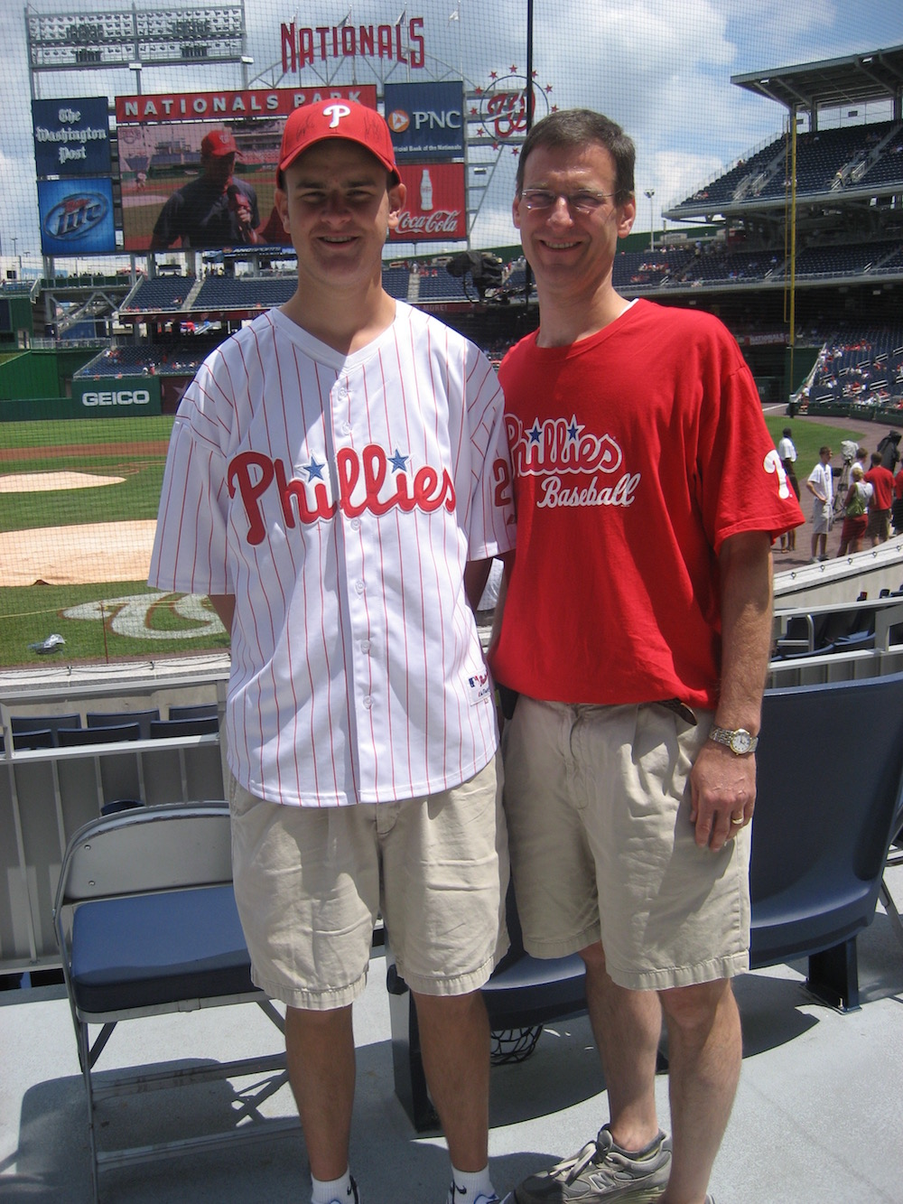 Phillies game with my dad during the 2010 season