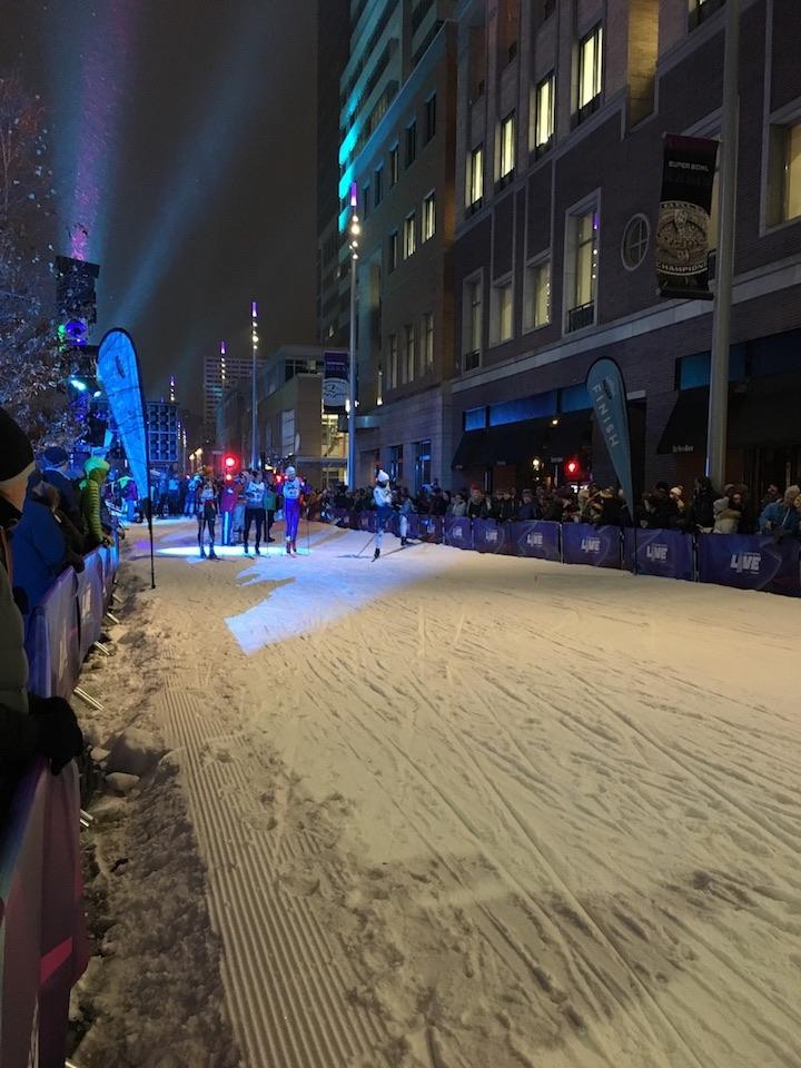 Ski slope pre-race