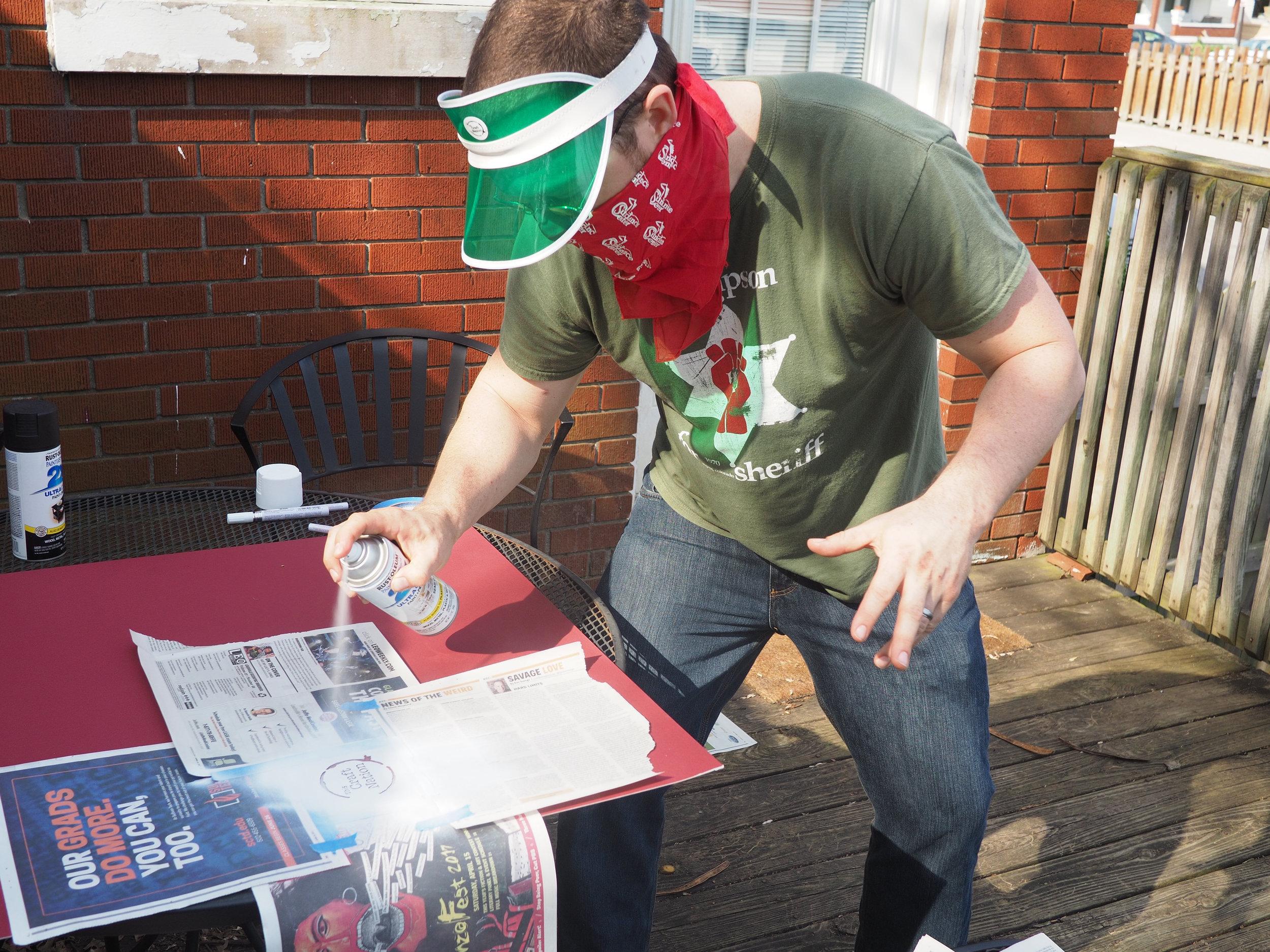 Kyle prepping for GonzoFest