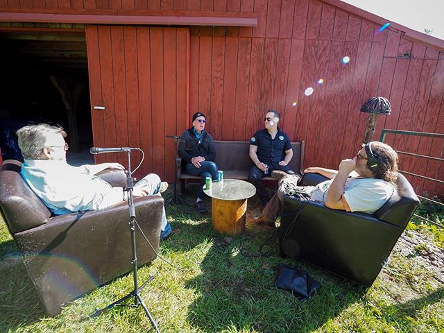 It's been so nice outside that we decided to record a bit out in the sun with special guests @jdhage and @sethrt . New episodes coming soon! #thiscraftnation #taketheride #gonzo #season2 #podcast #craft #michigan #fennville #interview #friends #love #farm