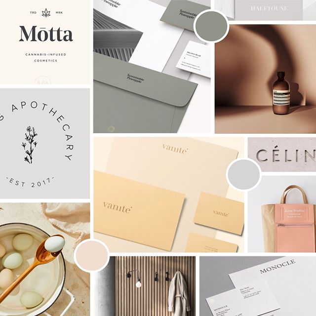 Aaaand we're off. Brand identity moodboard for a super rad new company — coming your way very very soon...