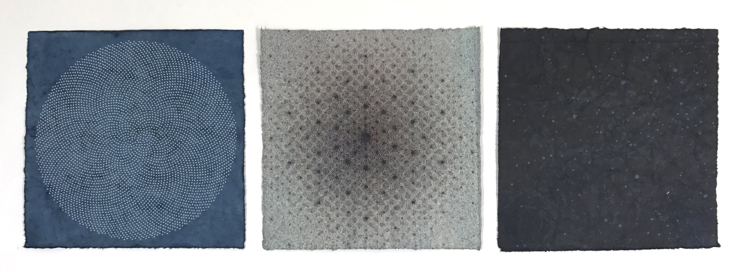 Amperage Variation Wax Triptych, 2017