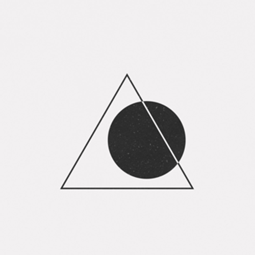 Abstract icon image of triangle and circle to show squarespace hub