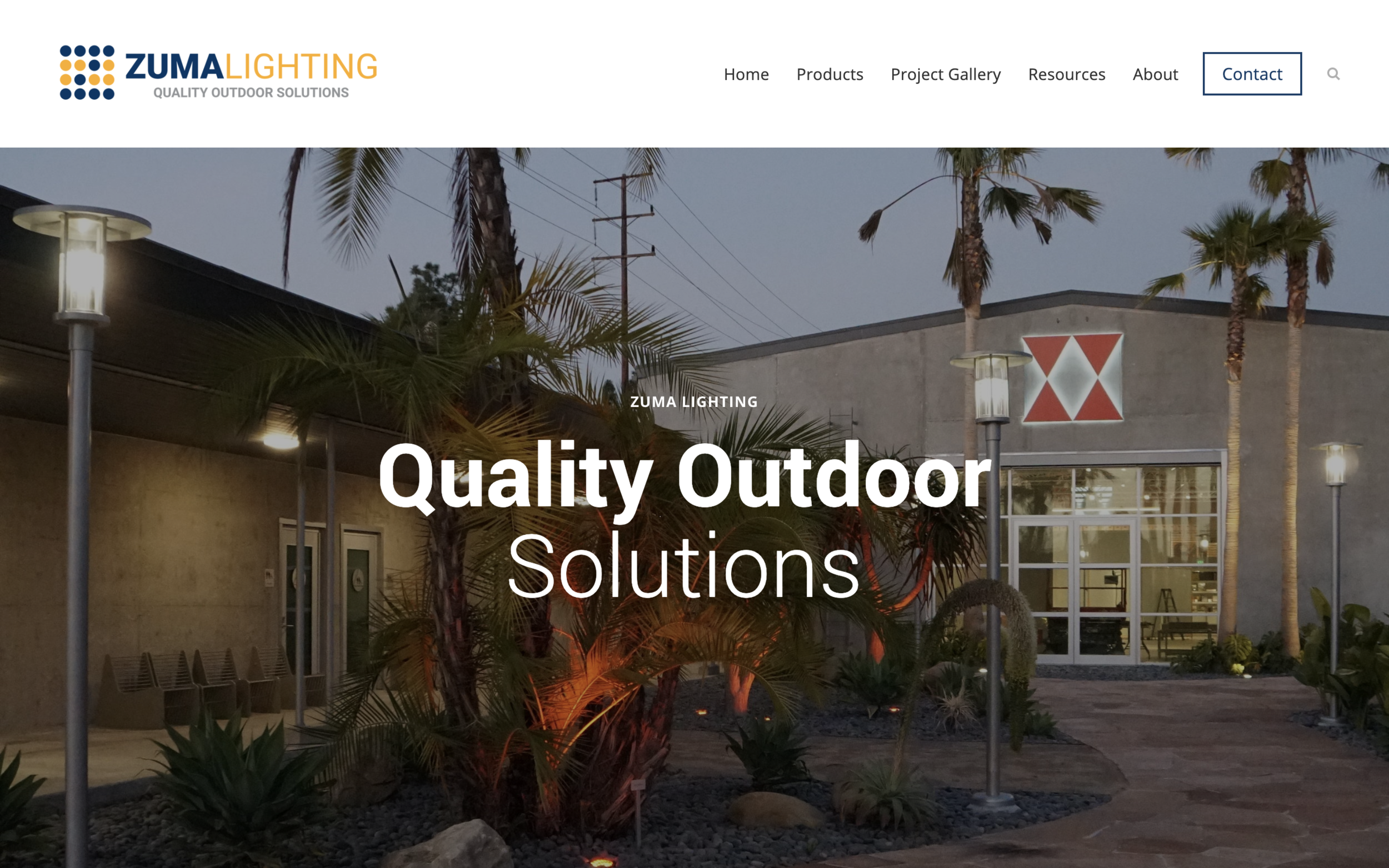 zumalighting.com - Complete Brand Design & Custom Squarespace WebsiteZuma Lighting is brining LED lights to parking lots, sports fields, and outdoor arenas in Souther California. We built a website that would house everything they need.