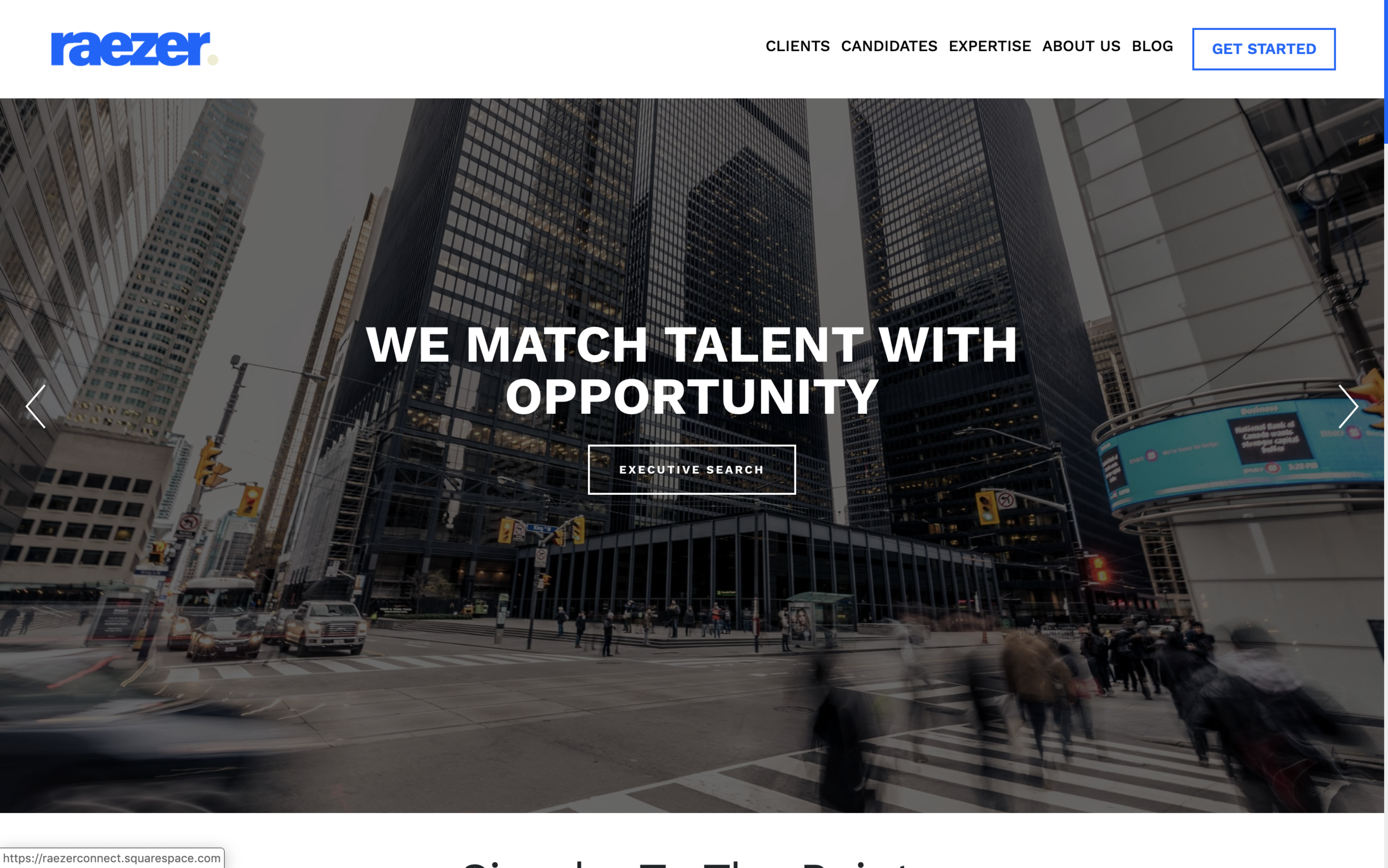 raezerconnect.com - Robust Custom Squarespace Solution A Unique Recruitment FirmRaezer Connect needed a new direction for their brand design and custom requirements for their website including job listing and specific design aesthetic. This isn't achievable for most in Squarespace but we met all of their requirements and they love their new website.