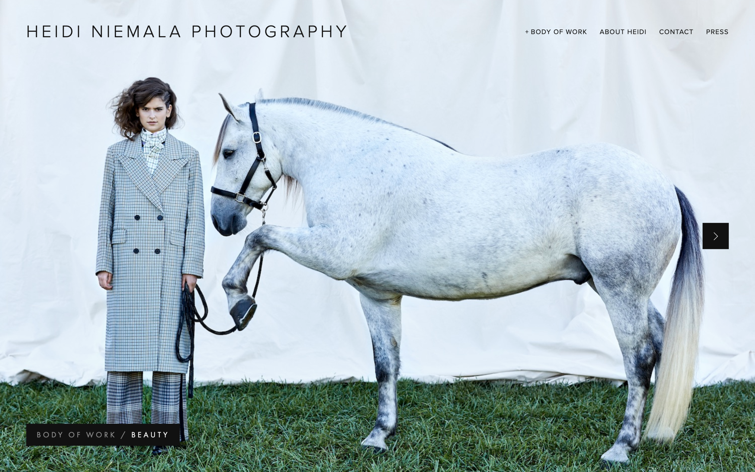 heidiniemala.com - Modern Photography Squarespace WebsitePhotography Squarespace websites are all about creating a beautiful layout in the platform. This Photography Squarespace  build begs the users to keep exploring the beautiful images.
