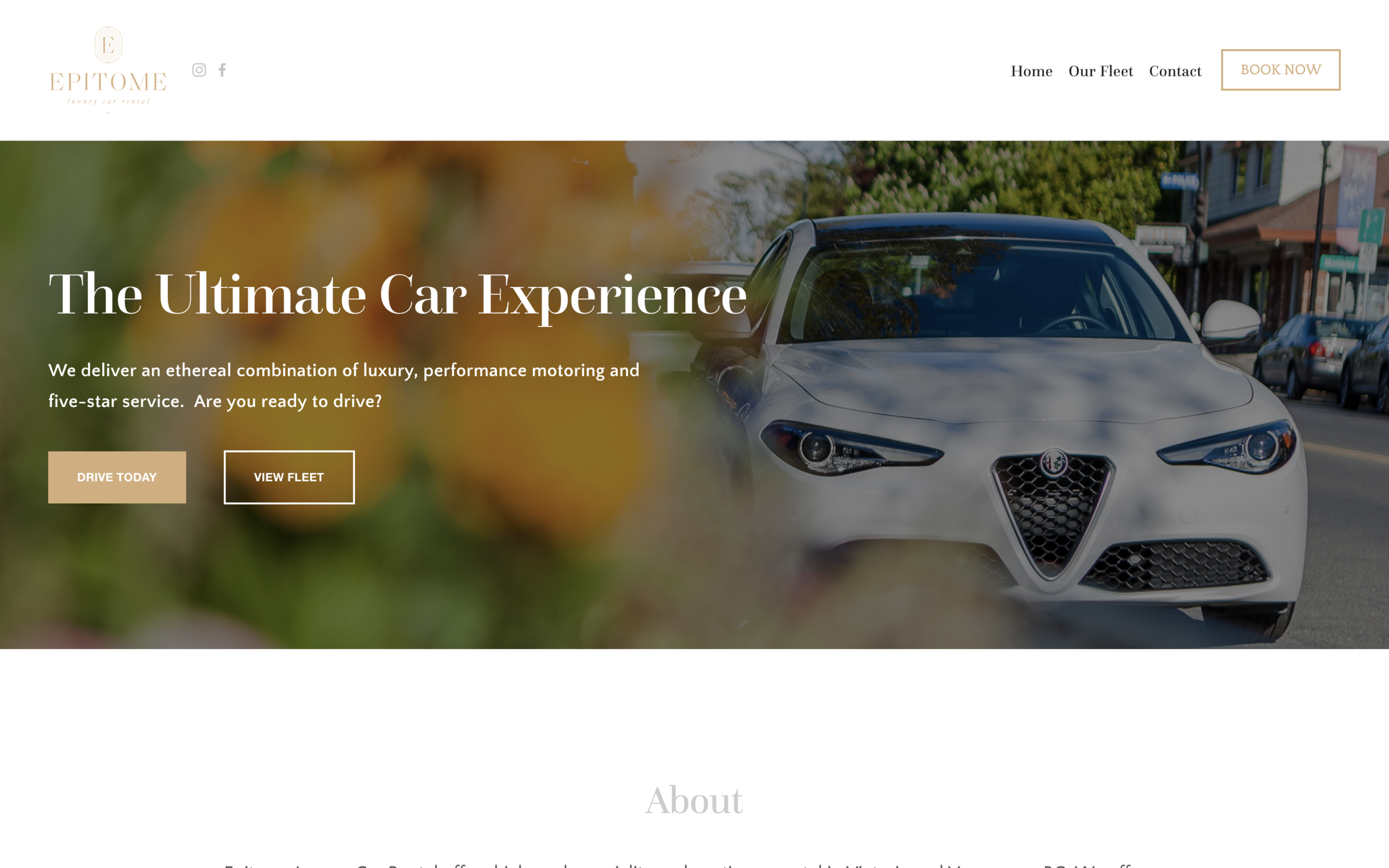www.epitomecars.com - Beautiful Car Rental Squarespace WebsiteEpitome needed a beautiful and responsive Squarespace website to support their brand. This  website build incorporates advanced scheduling  and a custom Squarespace design.