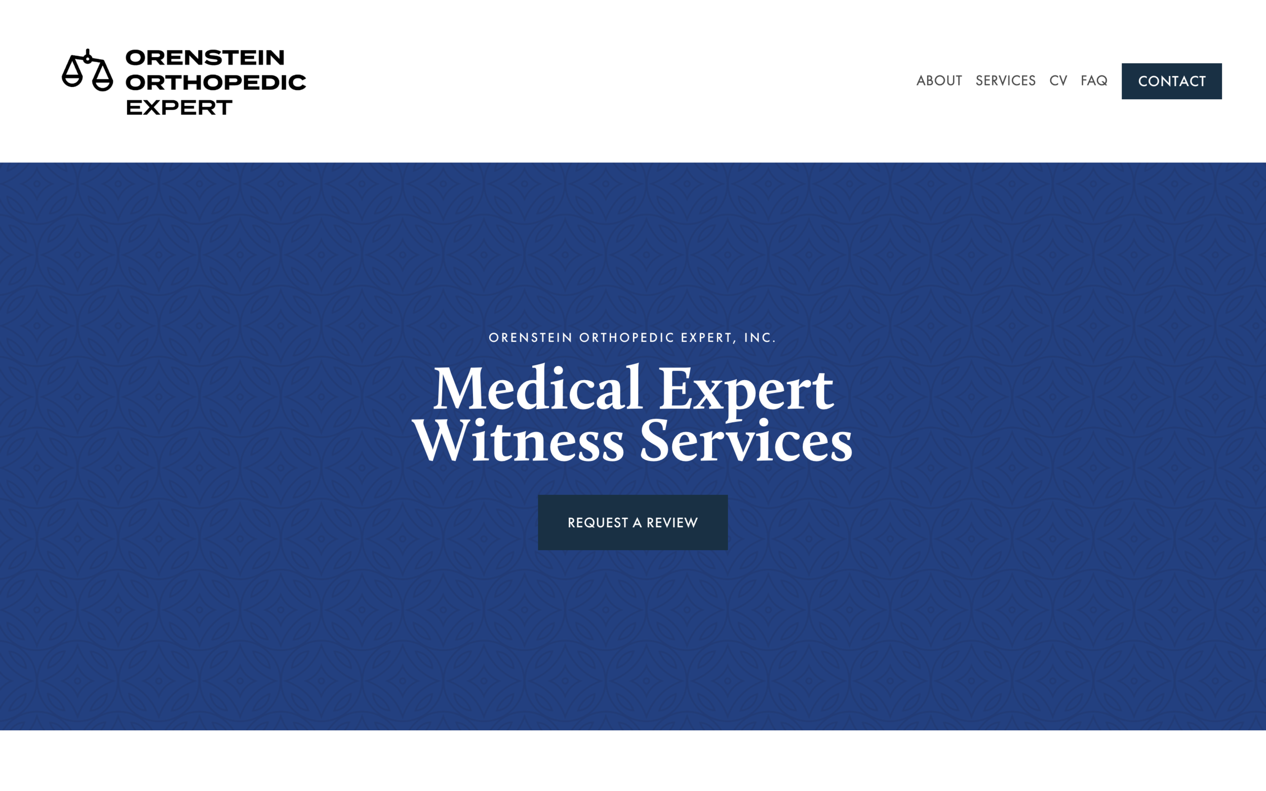 orensteinorthopedicexpert.com - Medical Expert Squarespace Website BuildOrenstein Orthopedic Expert needed a professional and clean Squarespace website. This custom website is informative, easy to digest and fully responsive.