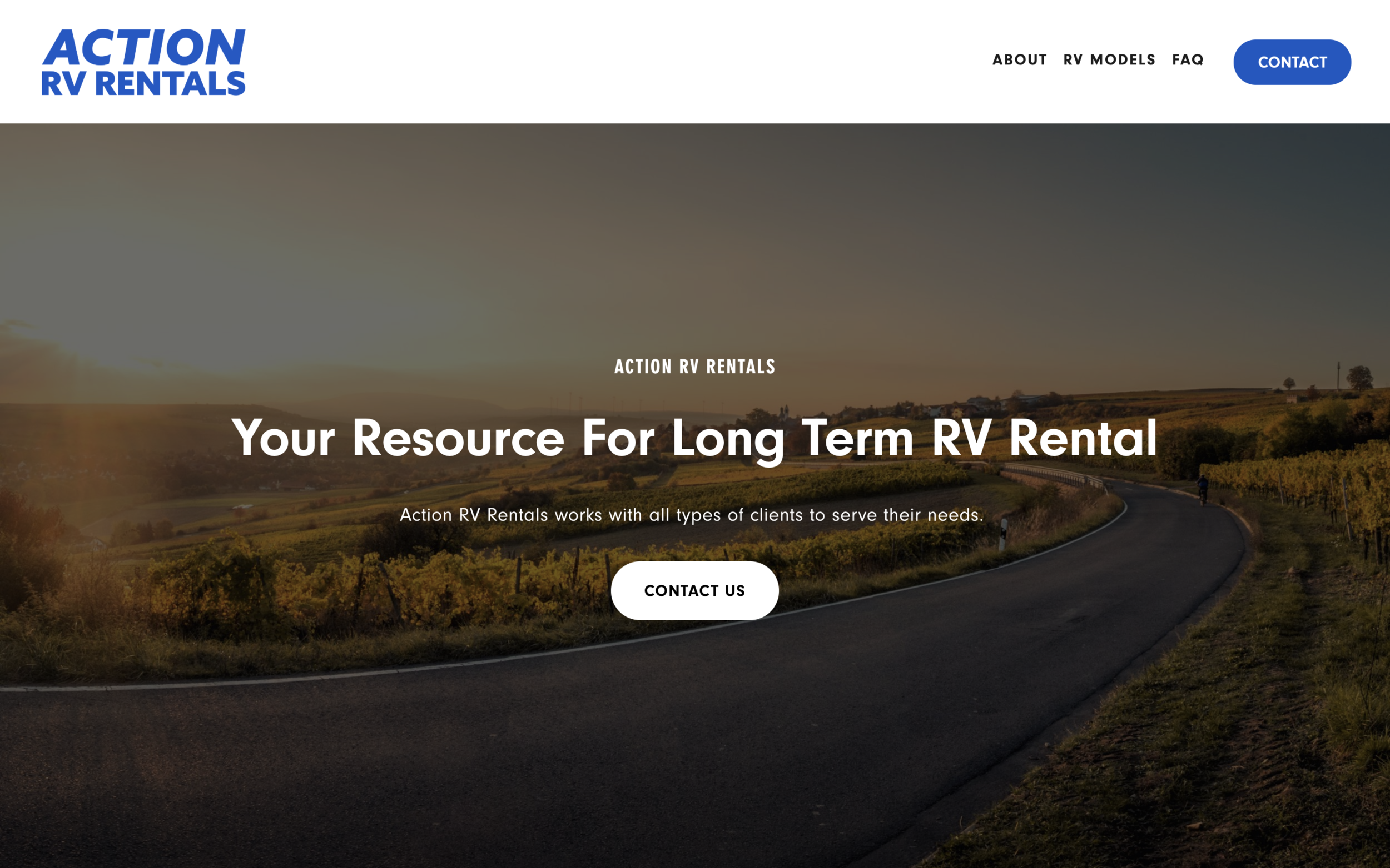 actionrvrental.com - Rental Service Squarespace WebsiteAction RV Rental is providing a specific solution for people in need and we provided this beautiful and responsive Squarespace website for them to build their brand.
