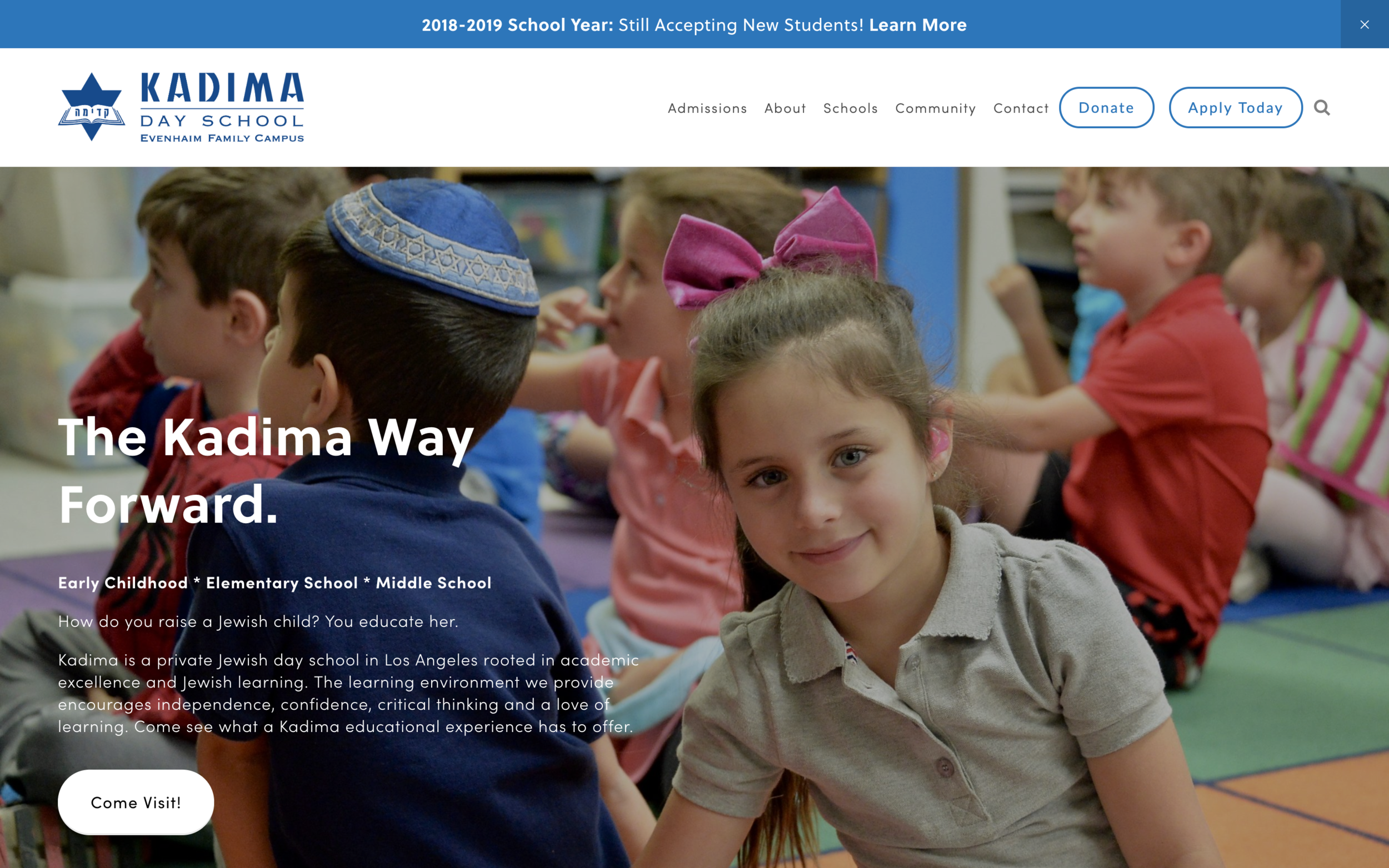 kadimadayschool.org - Modern School Website On SquarespaceThis modern Squarespace website is the perfect tool for Kadima Day School. They needed their website to be a marketing tool and resourceful for their users and we accomplished all of that in this modern Squarespace website.