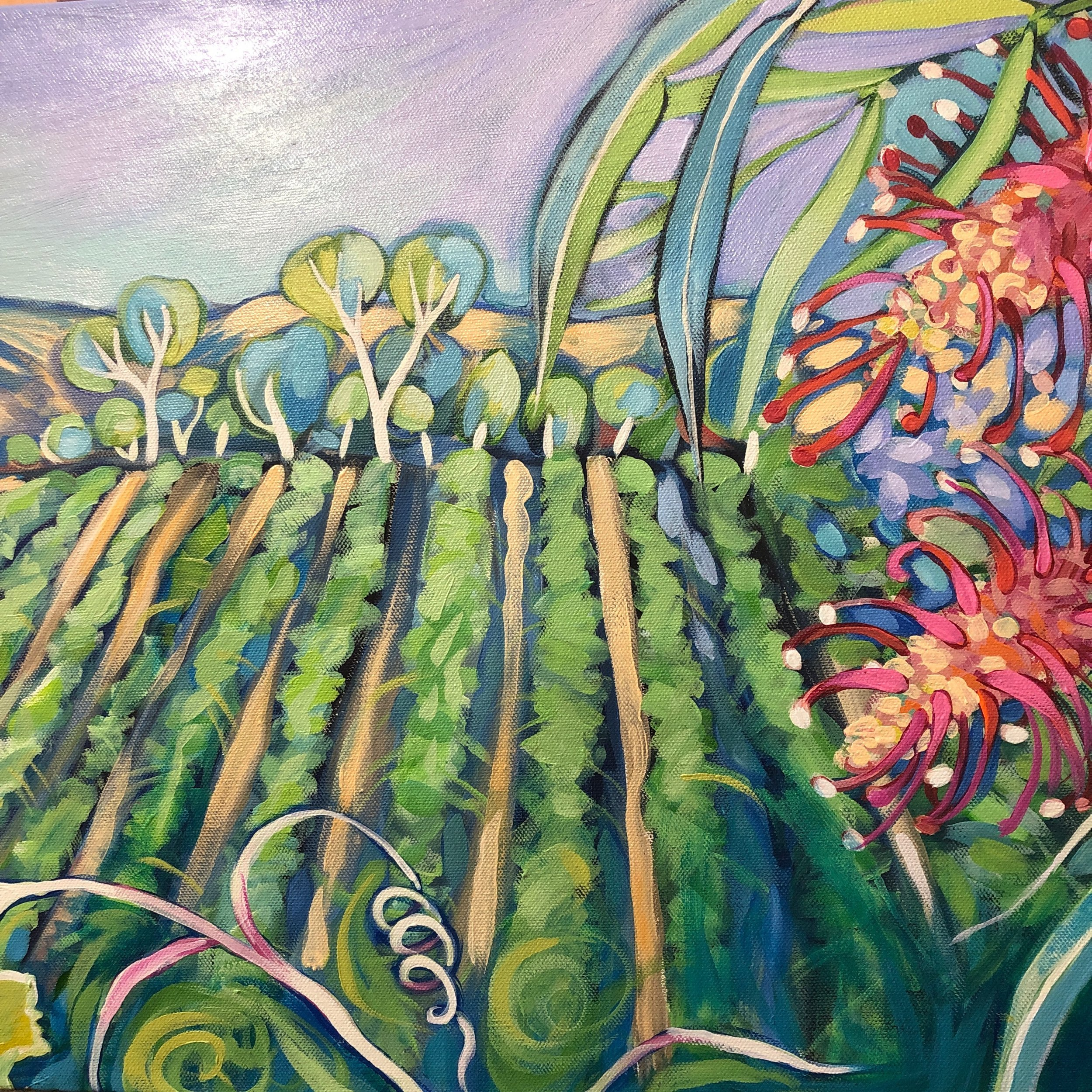 Sonja Maclean Australian bush and vines painting