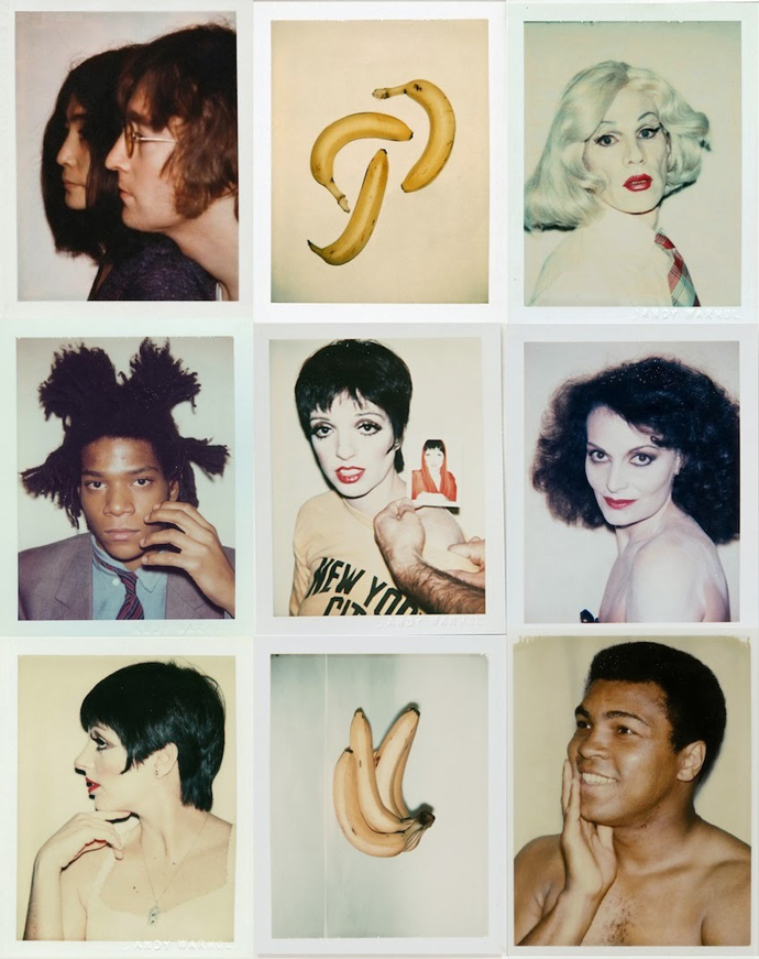 Polaroids shot by Andy Warhol, 1970–1987
