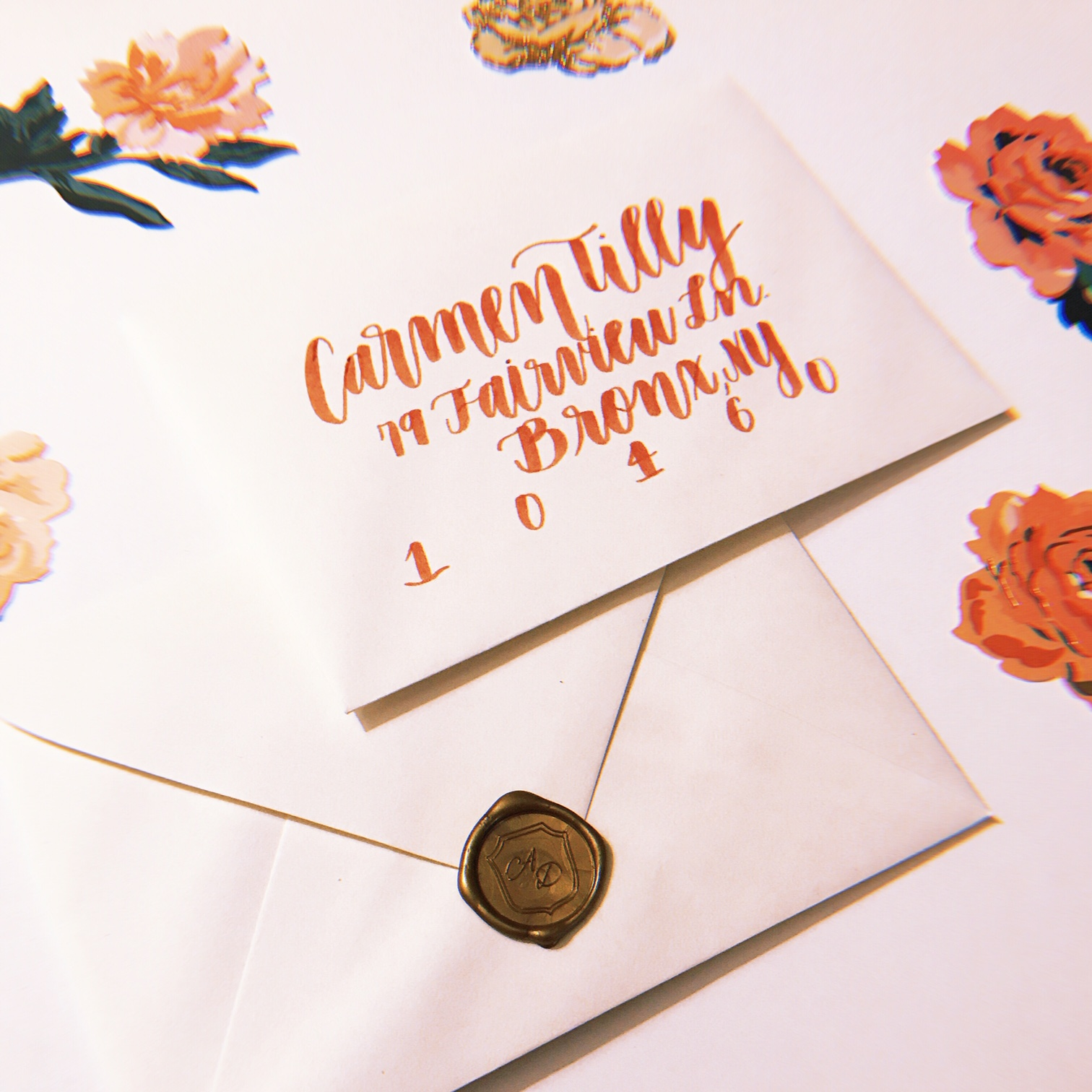 Envelope Calligraphy Wide Brush Style